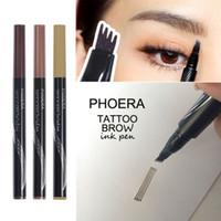 Wholesale korean fork resale online - NEW Hot Sale pc Women Girl Tattoo Eyebrow Pencil Waterproof Fork Tip Microblading Makeup Ink Sketch Korean Eye Brow Pen