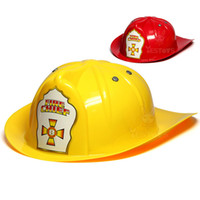 Wholesale fire safety - 0-3 Child Fire Hat Fireman cosplay Toy House Toy Safety Helmet Halloween Stage Performance Helmet Parent-child activity