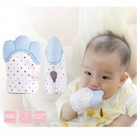 Wholesale Baby Health - Silicone Teether Baby Pacifier Glove Baby Feeding Teething Chewable Newborn Nursing Teether Beads Infant Health Care Pastel 5 Colors
