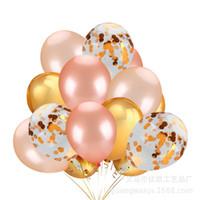çok renkli payetler toptan satış-12 inç Çok renkli Balon, Bose Altın Balon Sihirli, Elektrostatik Hurda Kağıt Balon, Altın Sequins Balon