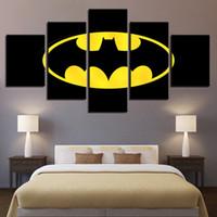 affiches de cinéma achat en gros de-5 Panneau Batman Film Imprimé Photos Peinture Mur Art Modulaire Affiche Décoration de La Maison Moderne Toile Salon