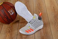 Wholesale outdoor basketball ball - 2018 New Arrival vapormax James Harden 2 Vol.2 Men's Basketball Shoes Wolf Grey Sports Basket Ball Sneakers Training Boot
