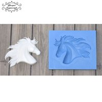 плесень лошадей оптовых-Yueyue Sugarcraft Horse Head silicone mold fondant mold cake decorating tools chocolate gumpaste
