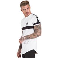 bande de spandex achat en gros de-Gingtto T-shirt Pour Hommes Blanc T-shirts Chemise Signature Ourlet En Coton Spandex Bande Épaule Grande Taille Logo De Marque Zm250