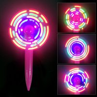 Wholesale pen fan - Light up Pen Fan with LED Flashing slogan,Flash Fan Pen keep cool this summer with the cool+pen around.