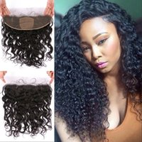 Wholesale human hair silk closure for sale - Water Wave x4 Silk Base Lace Frontal Ear to Ear Pre Plucked Malaysian Human Hair Lace Frontal Closure FDSHINE