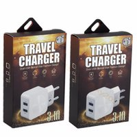 Wholesale ipad disk - Disk Dual usb ports 5V 3.1A Eu US Ac home travel wall charger power adapter for ipad iphone 7 8 x samsung s8 s9 android phone mp3