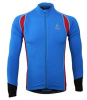Wholesale spring cycling jersey resale online - Men s Autumn Spring Long Sleeve Cycling Jersey Quick Dry Outdoor Sportswear Clothing MTB Bike Bicycle Zipper Shirt