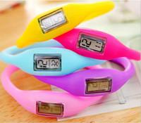 schrittzähler geschenk großhandel-Kinder geschenk mini anion schrittzähler silikon fitness tracker armband candy color gummi armband schrittzähler tragbare für outdoor sport weihnachten