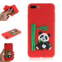Wholesale bamboo covers for iphone online – custom Fashion Cover For iPhone Plus Case Candy Silicone Panda bamboo Soft Mobile Phone Cases Shell Covers For iPhone Plus