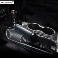 Wholesale mustangs accessories online - For Ford Mustang Carbon Fiber Control Gear Shift Panel Decorative Cover Car Styling car Sticker car Accessories