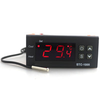 digitaler temperaturregler-regler-thermostat großhandel-AC 110-220 V 10A Digital LCD Temperaturregler STC-1000 mit 1 mt Sensor Thermostat Regler Heizung Kühler Zwei Relaisausgang