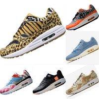 ingrosso animali pelli-2019 Atmos Animal Pack 1 OG Leopard Print Fur Running Shoes 1s Atmos Animal Pack EVA Built in AirCushion Ammortizzazione Scarpe sportive