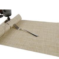 ingrosso tappetini da tavolino in bambù-E-SHOW 1pcs imitazione di bambù tessitura resistente al calore tavolo tovaglietta pad impermeabile caffè posto mat