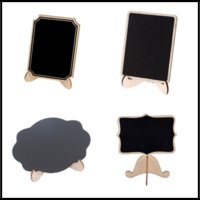 Wholesale wedding sign supplies - 9*8.2*0.3cm 4 Designs Mini Wooden Chalkboard Placed Names Table Numbers Food Signs Festive & Party Supplies for Wedding Party