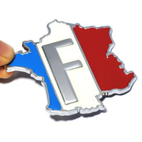 Wholesale Sticker Citroen - 3D Metal France Flag Car Sticker Accessories Stickers for Renault Peugeot Citroen Cruze Chevrolet Ford Focus VW Golf Benz BMW