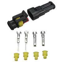 motorrad-steckverbinder groihandel-Auto 2-Pin Elektrischer Drahtstecker 1,5 Anschlussklemme für Motorrad Roller Auto LKW