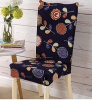 Wholesale Universal Cover Chair - Chair Cover Floral Print Sunshine Pattern Chair Cover Home Dining Elastic Chair Covers Multifunctional Spandex Universal Stretch