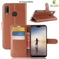 Wholesale Huawei Honor Wallet - For Huawei P20 plus lite Litchi lychee wallet flip leather PU TPU phone cover Case For huawei honor 7C enjoy 8 Y7 prime Y7 pro 2018