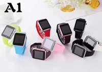 Wholesale low priced cameras online - A1 smartwatch Smart Watches Low Price Bluetooth Wearable Men Women Smart Watch Mobile with Camera for Android ios phone AA Quality