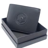 Hommes Classique véritable luxe en cuir noir MB Porte-monnaie homme  d affaires Portefeuilles classique en cuir vachette MT Porte-cartes de  portefeuille ... 618ac199932