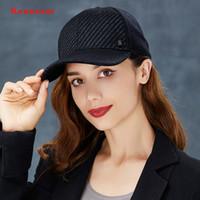 ingrosso cappelli duri neri-Kenmont cappello duro cappello nero baseball autunno inverno all'aperto tempo libero colore puro cappello di capelli spessa caldo all'aperto lingua d'anatra