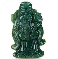 jinbao оптовых-Естественная хэтянь Синьцзян-нефрит QINGYU бог богатства кулон Zhaocai роскошный нефритовый кулон, бог богатства