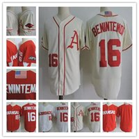 blanco rojo blanco azul jerseys al por mayor-Cheap Arkansas Razorbacks # 16 Andrew Benintendi rojo blanco gris crema College Baseball Jersey cosido NCAA blanco azul marino Jerseys S-3XL