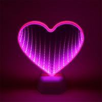 captain morgan neon barra de luz venda por atacado-Mais novo Estrelas Nuvem Túnel 3D Luz Da Noite Do Coração Levou Luzes Para O Miúdo Do Bebê Dormir Decoração Da Sala de Lâmpada Lampe Natal presente do Dia Dos Namorados