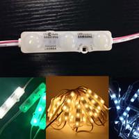 paquete de 12v al por mayor-Samsung Módulos LED con Lens Light Box Módulo de Inyección de Signos Impermeable IP65 3M Adhesivo de Cinta Adhesivo Volver 180-200lm 1.5W 20pcs / pack