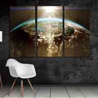 ingrosso pittura di figure classiche-wall Immagine World Map Canvas Painting Parete Modulare Picture For Living Room Classical Europe Acquerello decorazione Stampa