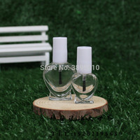 Wholesale glass nail polish bottle 5ml online - 5ml ml Nail Polish Bottle with Brush Refillable Empty Cosmetic Containor Transparent Glass bottle F852
