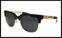 Wholesale medusa glasses - 2018 summer style italy medusa sunglasses half frame women men brand designer 100% uv protection sun glasses clear lens and coating