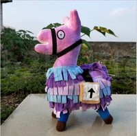 Wholesale stuffed animals - Fortnite Troll Stash Llama Figure Doll Soft Stuffed Animal Toys Fortnite Stash Llama Plush Toy cartoon Stuffed doll cm KKA5534