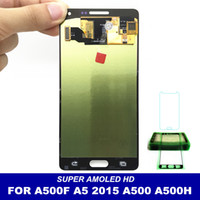 Wholesale samsung galaxy a5 screen assembly online - AMOLED LCDs Replacement For Samsung Galaxy A5 A500 A500H A500F A500M Phone LCD Display With Touch Screen Digitizer Assembly