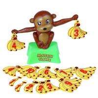 spielzeug plastik bananen großhandel-Lustige süße Affe Bananen Zahlen Gleichgewicht pädagogische Sicherheit Kunststoff Spielzeug Mathe Spiel Spiel Kinder im Vorschulalter Weihnachtsgeschenk