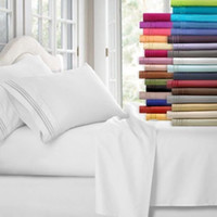 Wholesale hotel quality bedding sets online - 12 Colors Egyptian Count Twin Califonia King Size Bedding Sets Deep Pocket Bed Sheets Queen Bedding Sets King Size Comforter Set