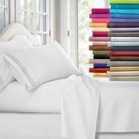 Wholesale 3d bedding set wholesale online - 12 Colors Egyptian Count Twin King Size Bedding Sets Deep Pocket Bed Sheets Queen Bedding Sets King Size Comforter Set