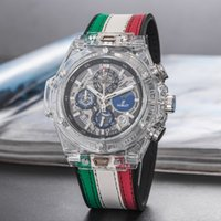Wholesale clock pointer - All pointer work large dial 50mm Mens Quartz movement clock Luxury Brand movement Watch HB men Watches Fashion Sports Wristwatches Wholesale