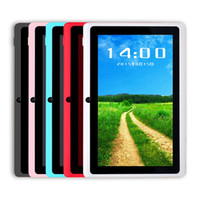 Wholesale tablets wholesalers online - Q88 Inch Android Tablet with keyboard case PC ALLwinner A33 Quade Core Dual Camera GB MB Capacitive Cheap Tablets