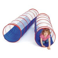 Wholesale tunnel tents - 70inch 180*50cm Large Size Children Play Tunnel Toy Tent Kids Portable Foldable Outdoor Indoor Pop up Discovery Tube Tent Gift