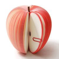 fruchtnoten großhandel-(1 Stücke / Verkaufen) Simulierte Apple Früchte Memo Notebooks Notizblöcke Weihnachtsgeschenke Tagebuch für Zeichnung Malerei Büro Schule Schreibwaren