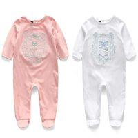 roupa íntima para bebês venda por atacado-Promoção Novas Crianças Pijamas Macacão de Bebê Bodysuit Bebê Recém-nascido Roupas de Manga Longa Roupa Interior Algodão Traje Meninos Meninas Outono Macacão
