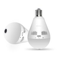 Wholesale cameras bulbs for sale - Group buy Wifi IP Camera P Light Bulb Degree Wi Fi Fisheye CCTV Camera MP Home Security Wireless Panoramic Camera
