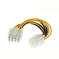 Wholesale 12v Pin Adapters - 4 Pin Male to 8 Pin CPU Power Supply Adapter Converter ATX Cable 12V