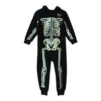 Wholesale winter jumpsuits pajamas resale online - Autumn Winter Skeleton Overalls Jumpsuit Kids Pajamas Children Onesie Sleepers Pajamas Christmas Halloween Costumes Y18102908