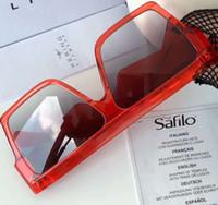 51fb84680b Wholesale designer inspired sunglasses online - inspired Flat Top Red  Sunglasses CL40030 S des lunettes de