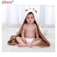 ingrosso abbracci del bambino-1 pezzo Morbido cotone assorbente mantello mantello asciugamano simpatico cartone animato asciugamano bambino trapunta trapunta 70x140cm