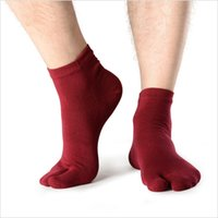 Wholesale pure cotton socks toes - 20 Color Pure Color Cotton Toe Socks Pure Two Finger Breathable Absorb Sweat Warmer Elastic Socks 35-42 Free DHL G521S