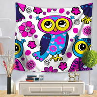 Wholesale owls decorations party for sale - Group buy 9 Style cartoon owl tapestry for children bedroom decor multifunction beach towel printing tablecloth home decoration party supplies